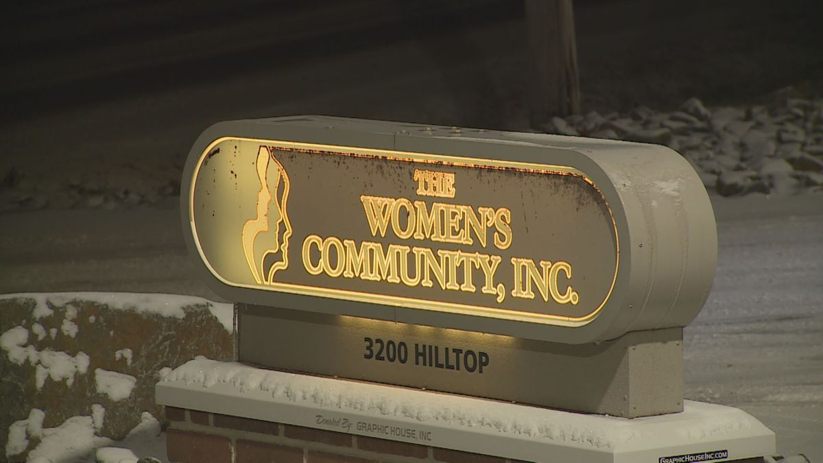 Entrance to The Women's Community in Wausau (11/13/19 WSAW Photo)