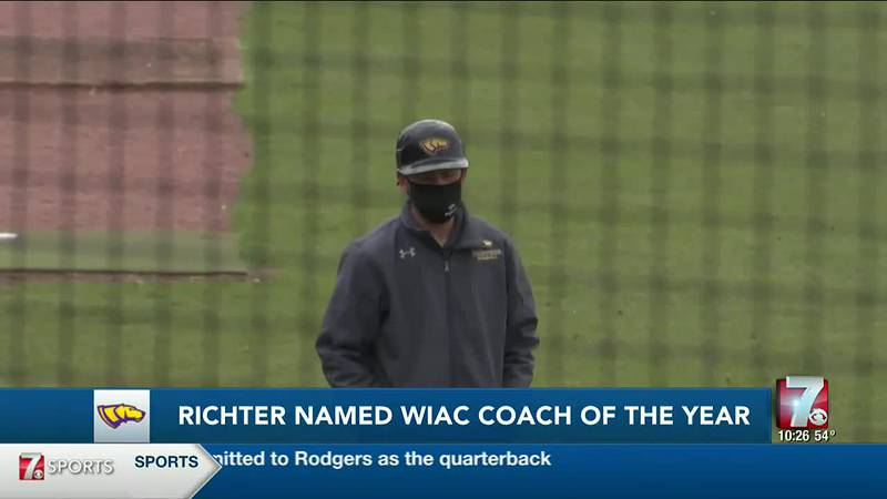 UWSP baseball's Nat Richter named WIAC Coach of the Year.