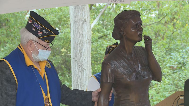 Sunday, members of American Legion Post 492 are unveiling a statue honoring Gold Star mothers,...
