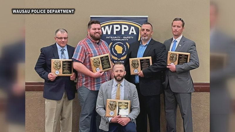 5 area officers received the Award for Valor at the Wisconsin Professional Police Association's...