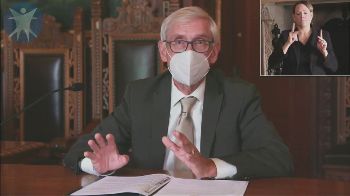 Gov. Tony Evers announces statewide mask mandate.