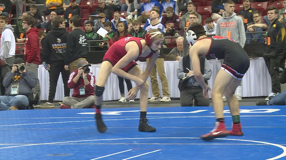 Wisconsin Rapids wrestler Preston Spray during at match at the state tournament at the Kohl Center in Madison, Wisconsin, on February 27, 2020. (WSAW)