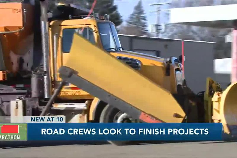 Road crews look to finish projects