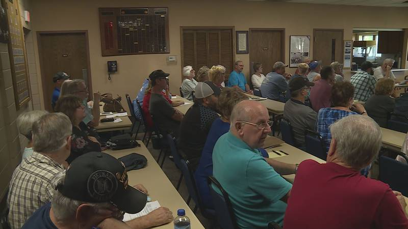 The town of Grand Rapids held a meeting to address flooding issues.