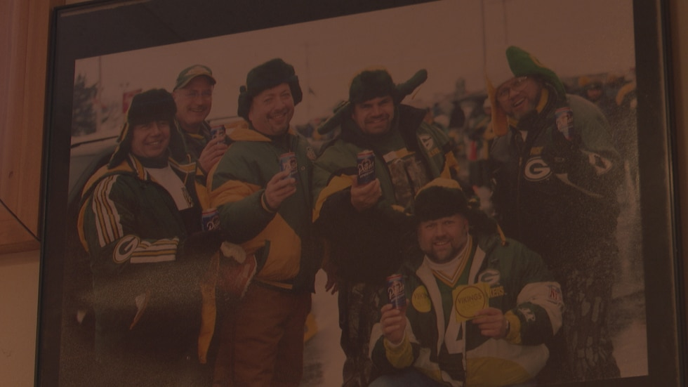 Pat Suplicki poses with his friends at the 1997 NFC Championship Game