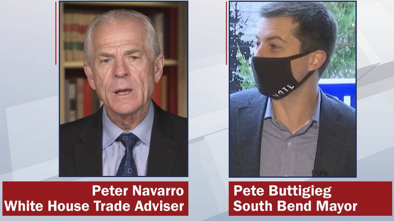 Peter Navarro and Pete Buttigieg are surrogates campaigning in Wisconsin for President Donald...