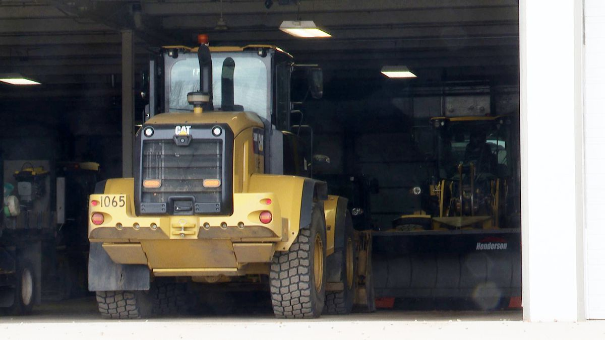 Equipment at Wausau Public Works Dept. (WSAW Photo)