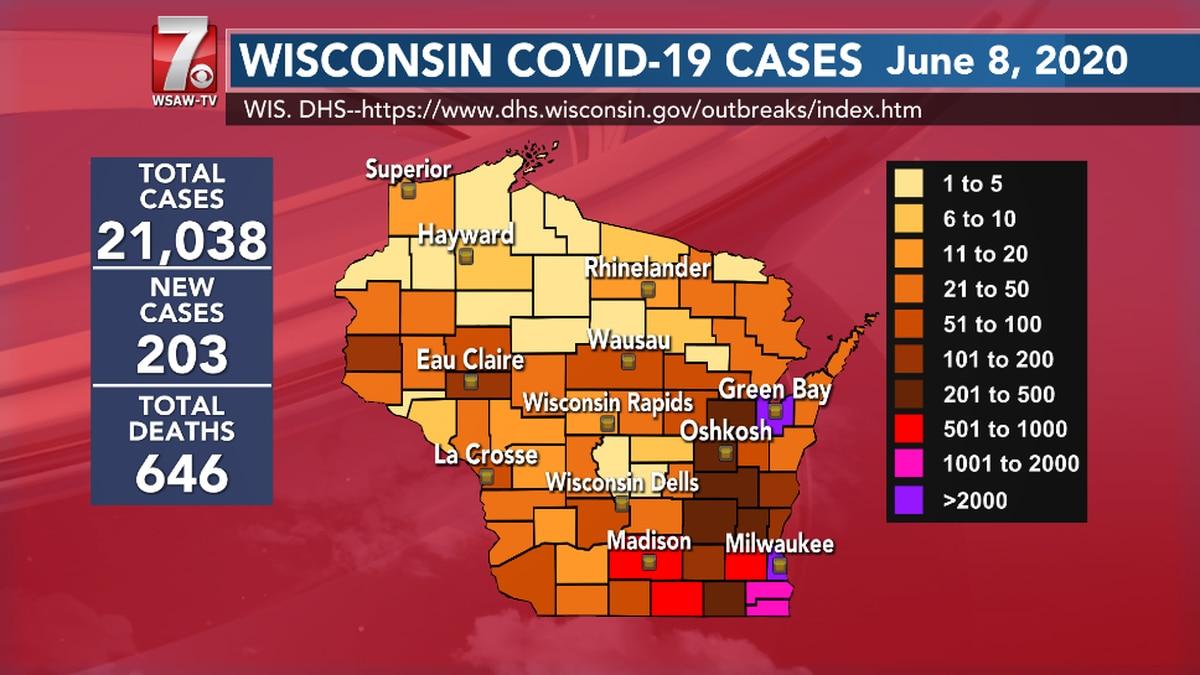 COVID-19 in Wisconsin June 8, 2020