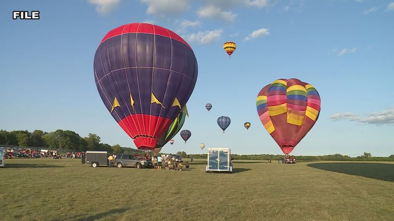 Balloons get ready to participate in a festival
