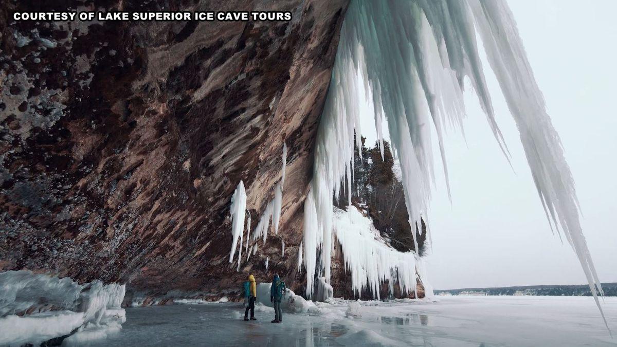 Photo courtesy: Lake Superior Ice Cave Tours