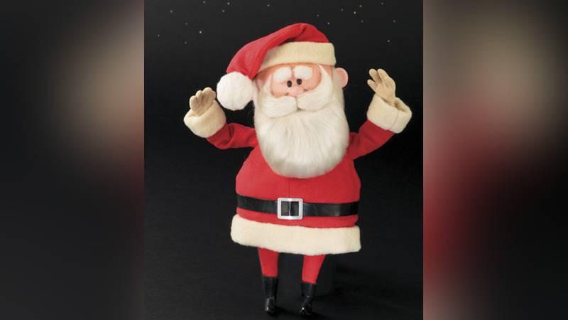This image released by Profiles in History shows a Santa Claus puppet used in the filming of...