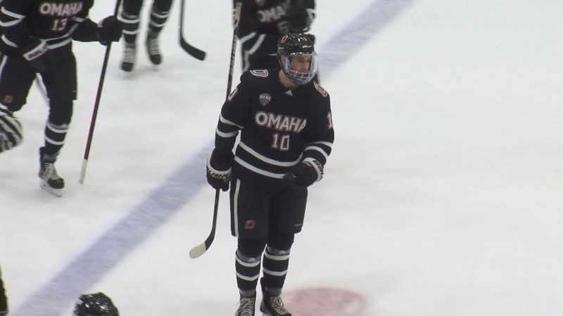 Former Wausau West hockey player and current Omaha Mavericks forward Kevin Conley.