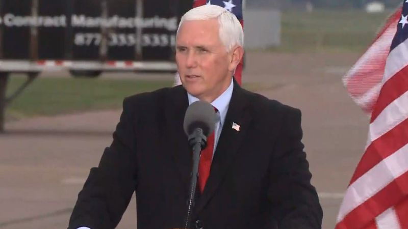 Vice President Mike Pence host rally in Mosinee on Oct. 28.