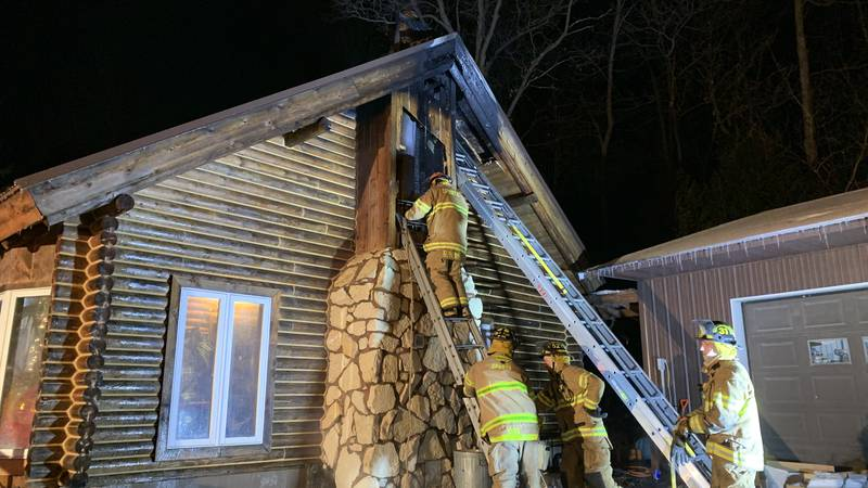 Town of Leon chimney fire
