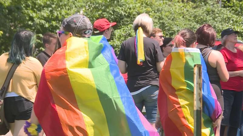 Pride celebration attendees