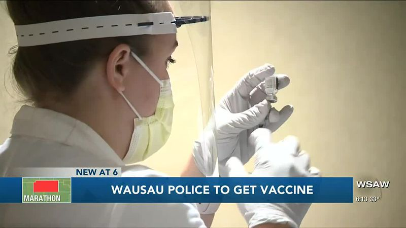Essential workers including police officers included in phase 1B of vaccine rollout beginning...