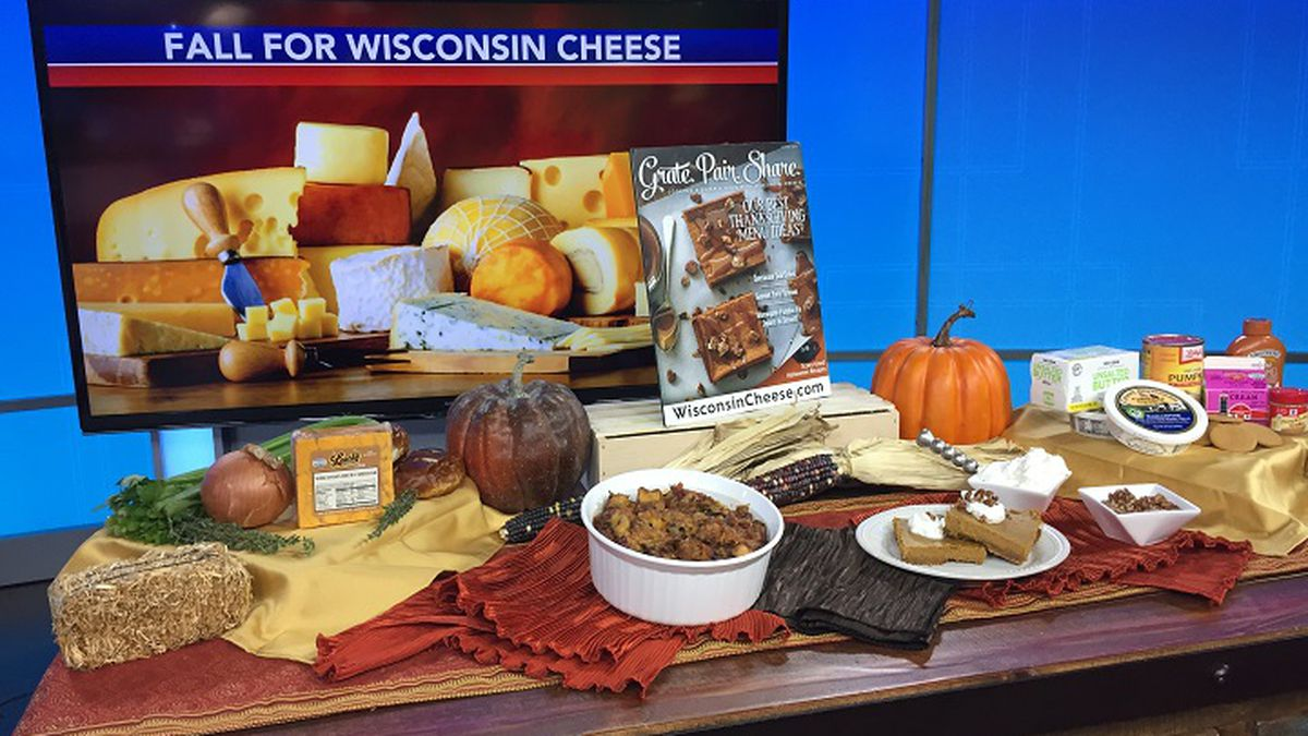 Beth Schaefer shares Thanksgiving recipes using Wisconsin cheese (WSAW photo)