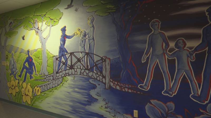 Mural shows protective role of police