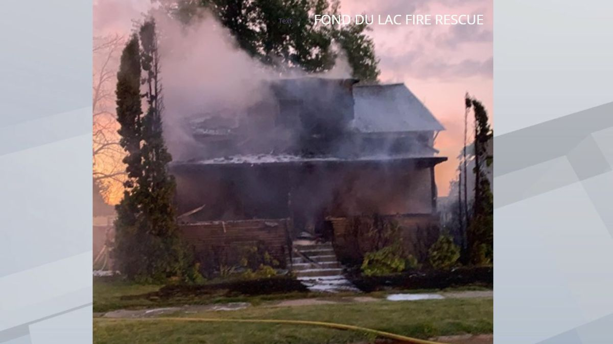 A fire heavily damaged this house on Military Rd. in Fond du Lac on Thursday, September 19, 2019. (Picture provided by Fond du Lac Fire Rescue via Facebook)