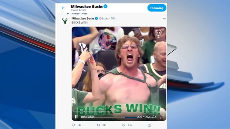 Video of Athens man goes viral following  Bucks win