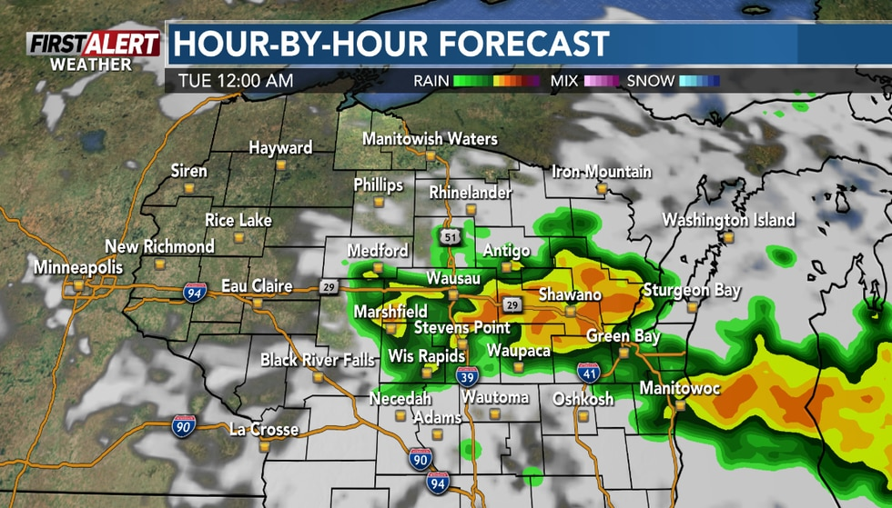 Storms could be impacting parts of the region Monday evening.