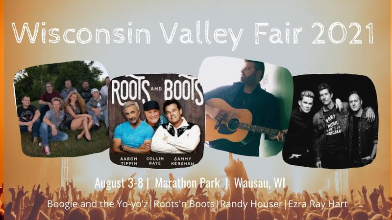 The grandstand lineup has been announced for the 2021 Wisconsin Valley Fair.