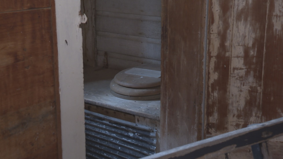 The president of the Rising Star Mill Committee says the toilet is one of the pieces of the...