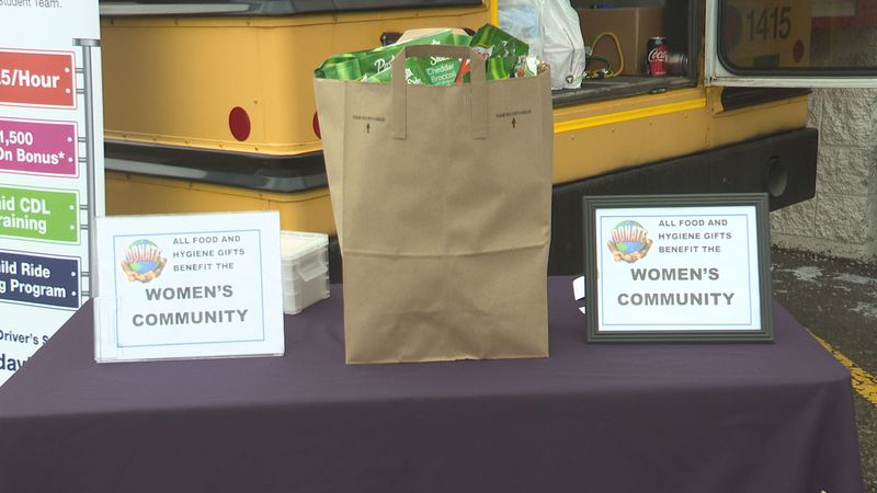 """""""Stuff the Bus"""" event collects items for the Women's Community in Wausau"""