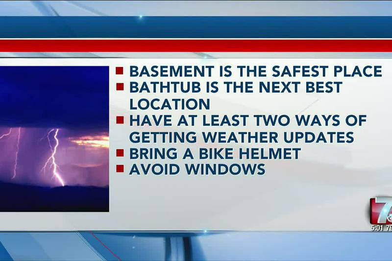 Staying safe with an emergency plan when severe weather strikes