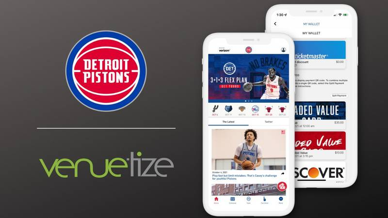 Detroit Pistons Mobile Application - Available Now in Apple Store and Google Play