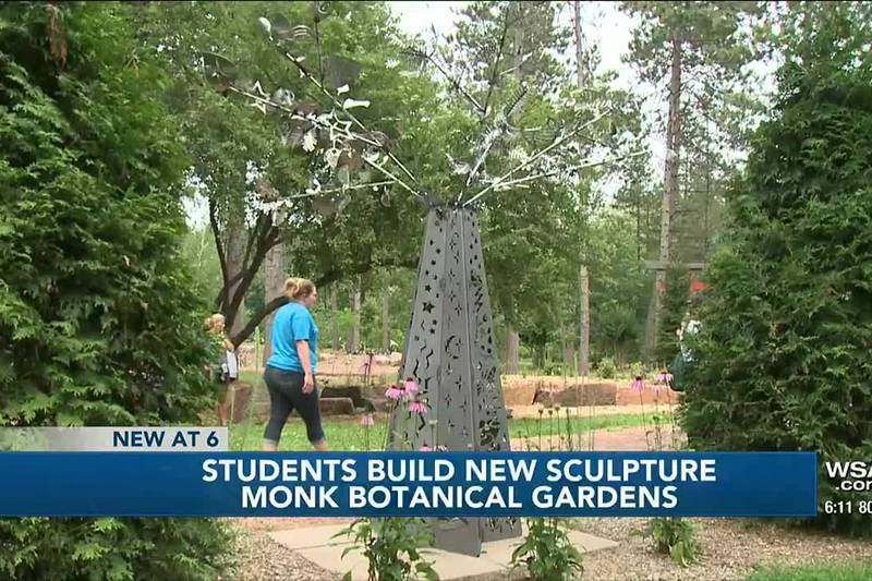 NTC campers build new sculpture for Monk Botanical Gardens